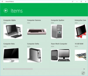 Item Gallery on Dynamics NAV Windows App