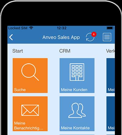 Sales App Startseite